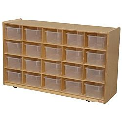 Wood Designs Tray Storage with Translucent Trays, WD-14501