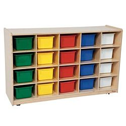 Wood Designs 20 Tray Storage with Assorted Trays, WD-14503