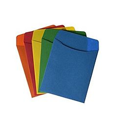 Bright Colors Library pockets, 30 each of 10 colors (300 Pack)
