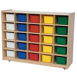 Wood Designs 25 Tray Storage Natural with Assorted Trays, WD-16003