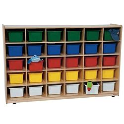 Wood Designs 30 Tray Storage Natural with Assorted Trays, WD-16033
