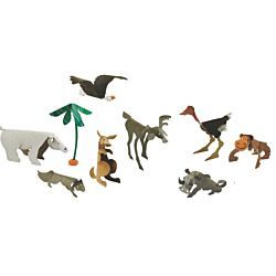 Wild Animal Sculpture Cards - Roylco R16037-24 per package