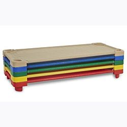 Standard Stackable Assembled Kiddie Cot, 6 Color-Pieces