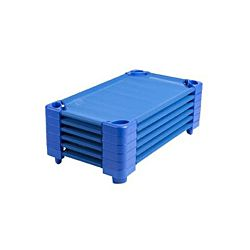 Toddler Unassembled Stackable Kiddie Cot, Blue, Craton Of (6)