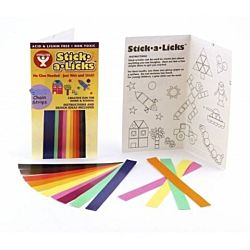 Hygloss Gummed Paper Shape Stick-A-Licks Chain Strips 1/2