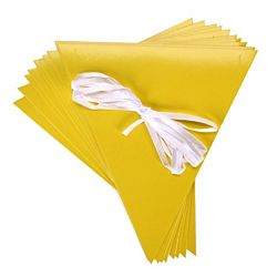 Pennants with Ribbon Kits - Yellow - 10 per package