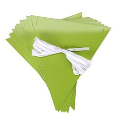 Pennants with Ribbon Kits - Lime Green - 10 per package
