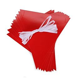 Pennants with Ribbon Kits - Red- 10 per package