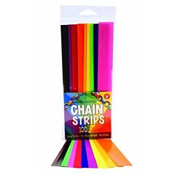Hygloss Gummed Paper Shape Stick-A-Licks Chain Strips 1