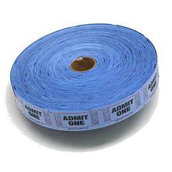 Single Admit Ticket Roll, 2000ct, Blue