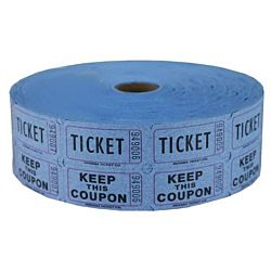 Double Roll Raffle Tickets, 2000ct, Blue