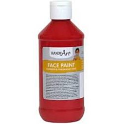 Handy Art 8 oz. Washable Face Paint  - Red 556-020