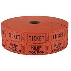 Double Roll Raffle Tickets, 2000ct,  Orange