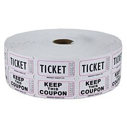 Double Roll Raffle Tickets, 2000ct, White