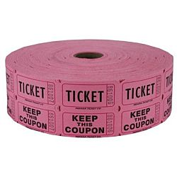 Double Roll Raffle Tickets, 2000ct,  Pink