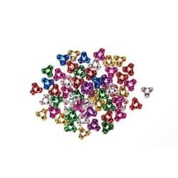 Acrylic Beads Metallic Plated Tri Beads Assorted Colors