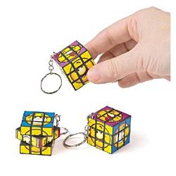 Mini Magic Cube Puzzle Key Chain , 12 units