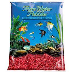 Red Aquarium Natural Gravel,  Acrylic Color - 5 LBS Bag