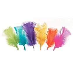 All Purpose Craft Feathers - Assorted Neon Colors - 14 grams