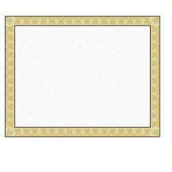 Geographics Parchment Paper Certificates, 8.5 x 11 Inches, Natural Diplomat Border, 15 per Pack