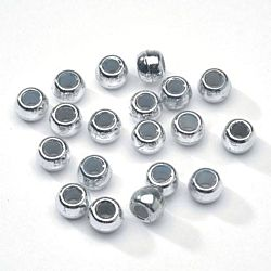 Pony Beads Acrylic Bright Silver 6 x 9mm 1000 pieces