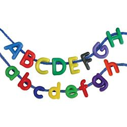 Manuscript Letter Beads 288 beads per package