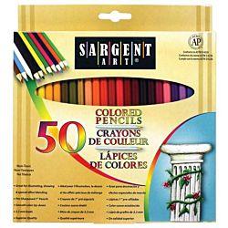 Sargent Art Premium Coloring Pencils, 50 pack Assorted Colors, 22-7251