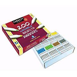 Sargent Art  200-Count Washable Broad Tip Assorted Marker Set 22-1525