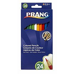 Prang Thick Core Colored Pencil Set, 3.3 Millimeter Cores, 7 Inch Length, 24 Pencils, Assorted Colors (22240)
