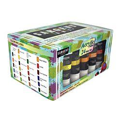Sargent Art 23-0524 24 Acrylic Tube Paint Set 22ml Tubes 24 Colors