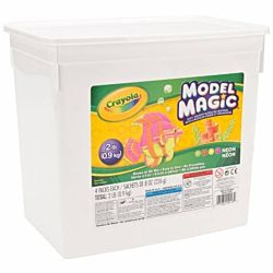 Crayola Model Magic Modeling Compound, 2-lb. Bucket, Neon, Four 8-oz. Pouches 23-2413