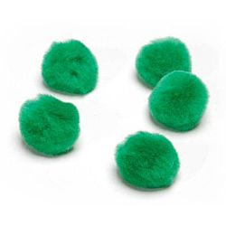1 inch Acrylic Pom Poms - Kelly Green - 150 pack
