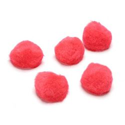 1 inch Acrylic Pom Poms - Red - 150 pack