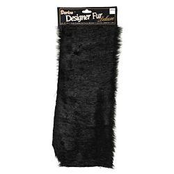 Darice 2500-90 Large Luxury Fur - Black