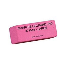 Pink Pearl Erasers, Large, 12 Count