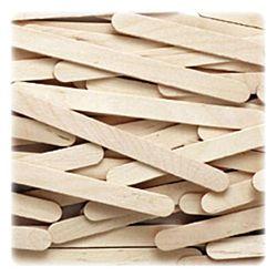 Natural Wood Craft Sticks - 4-1/2