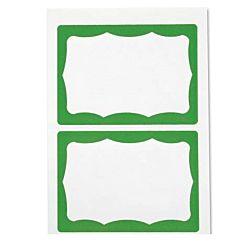 Self-Adhesive Name Badges, Green Visitor, Pack Of 100