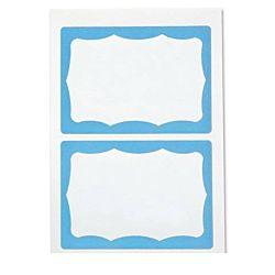 Self-Adhesive Name Badges, Blue Visitor, Pack Of 100
