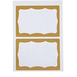 Self-Adhesive Name Badges, Gold Visitor, Pack Of 100