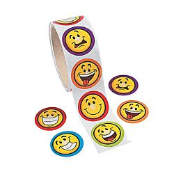 Emoji Stickers- Roll of 100