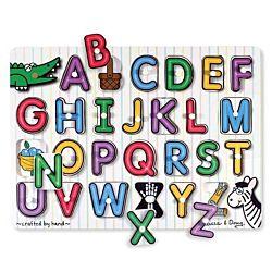 Melissa & Doug See-Inside Alphabet Peg Wooden Puzzle - 26 Pieces, item 3272