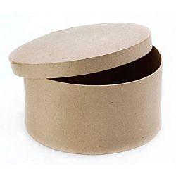 Paper Mache Box Round  4