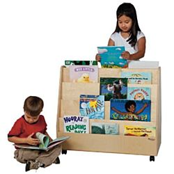Wood Designs Children's Double Sided Book Display, Natural , WD-34200