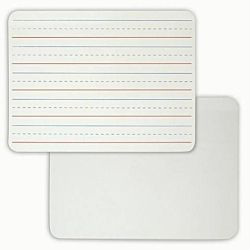 Double Sided Dry Erase Lapboard 9 x 12 Inches, Plain/Lined