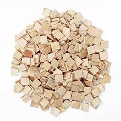 Natural Wood Craft Mosaic Squares - 500 Pieces