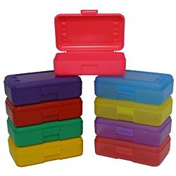 Plastic Pencil , Crayons Box , Case Organizer