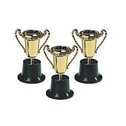 Plastic Goldtone Trophies, 12 units