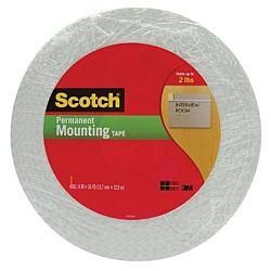 Scotch Double-Sided Foam Mounting Tape, 1/2