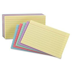 Ruled Index Cards, 5