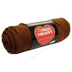 Red Heart classic, Crochet Premium Acrylic Knitting yarn, Brown